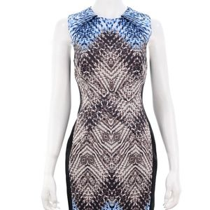 KAREN MILLEN ABSTRACT PRINT MIDI DRESS SIZE 10